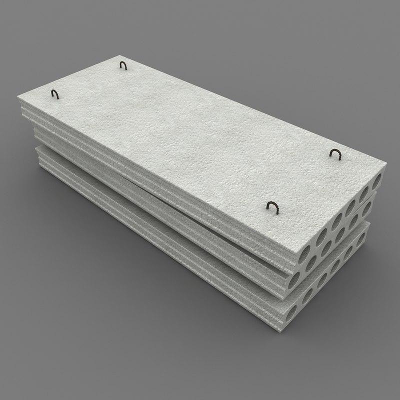 3d model concrete slabs 1