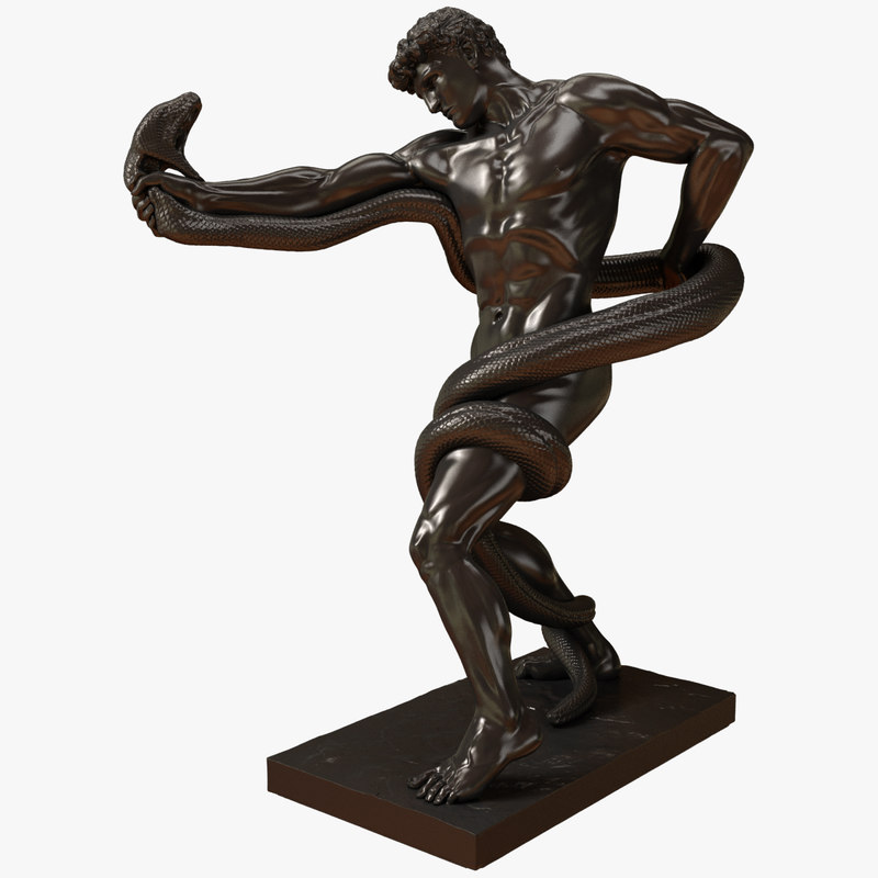 3d replica athlete wrestling python