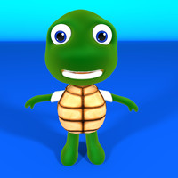 turtle rig animate 3d c4d
