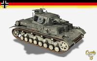 panzer iv tank d 3d lwo