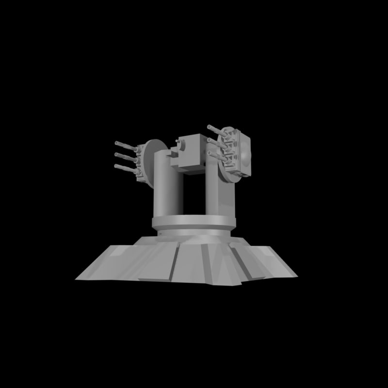 3d anti-air turret laser model