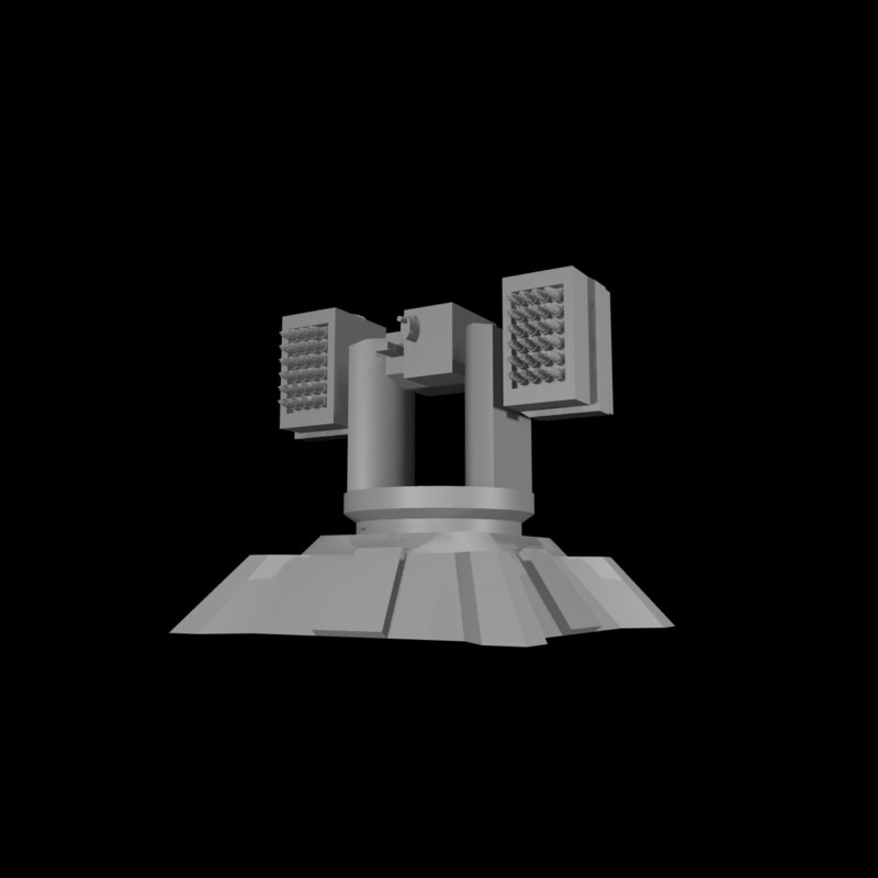 3ds max anti-air turret missile