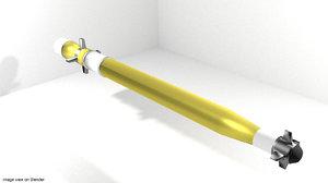 rocket launcher warhead 3d model