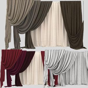 3d model of curtain 10