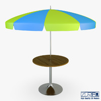 Patio table with umbrella v 1