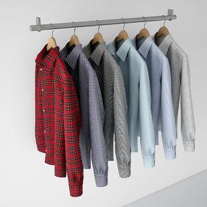 shirts hangers v-ray max