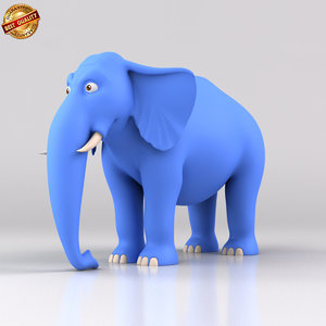 fbx cartoon elephant