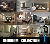 bedrooms scenes 3d c4d