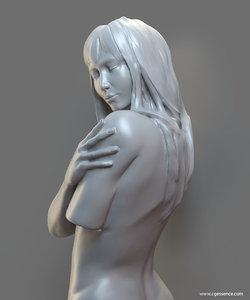 obj sensual female sculpture