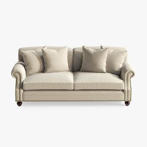 3d edwardian sofa model