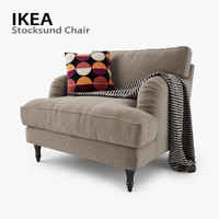 ikea stocksund chair seat 3d max