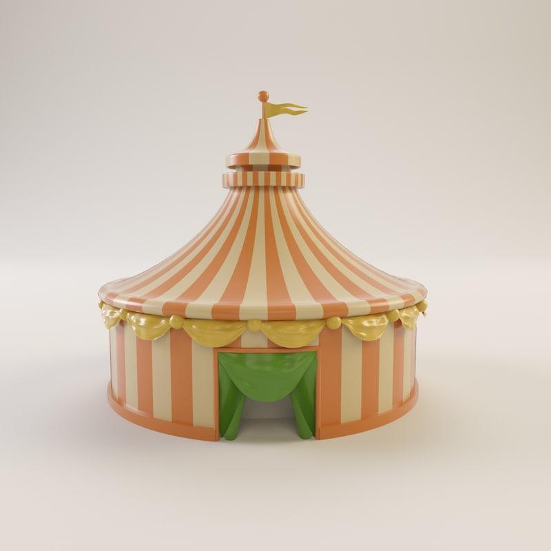 3d circus tent