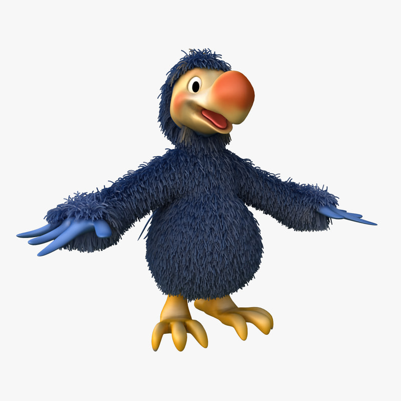 dodo bird cartoon 3d model