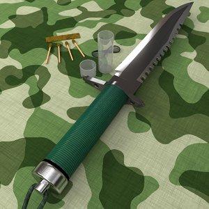 3d rambo s knife set