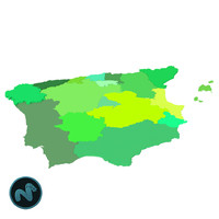 3d model spain mapping
