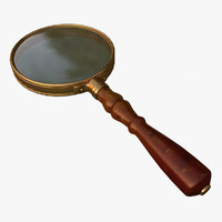 3d antique magnifying glass