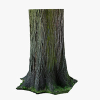 3d realistic wood stump model
