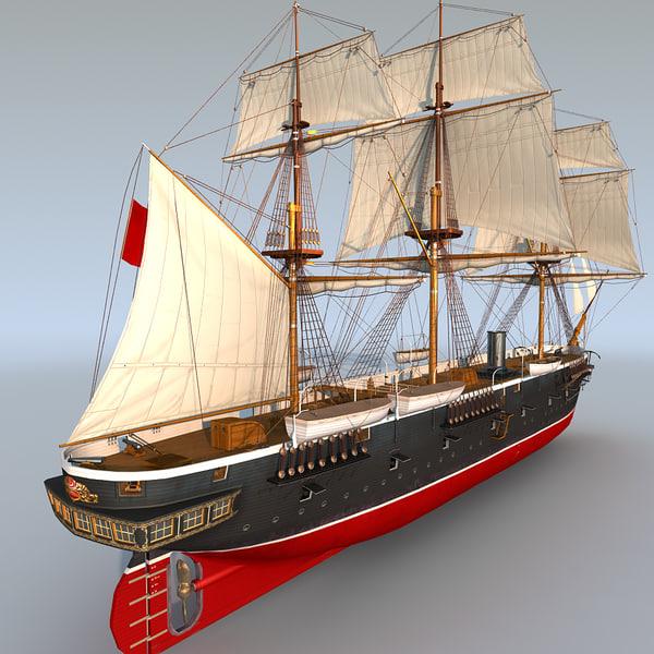 sail steam frigate ertugrul 3ds