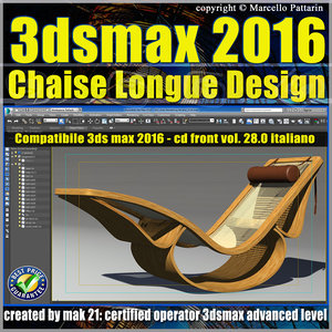 028 3ds max 2016 Chaise Longue v.28 Italiano cd front