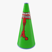 cheerleader megaphone green max