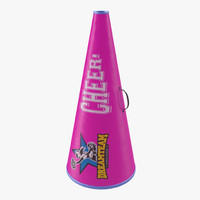 cheerleader megaphone pink 3d 3ds