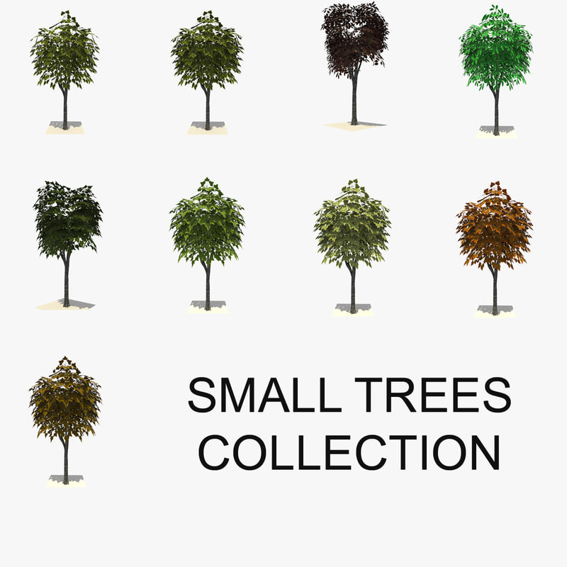 small trees 3d 3ds