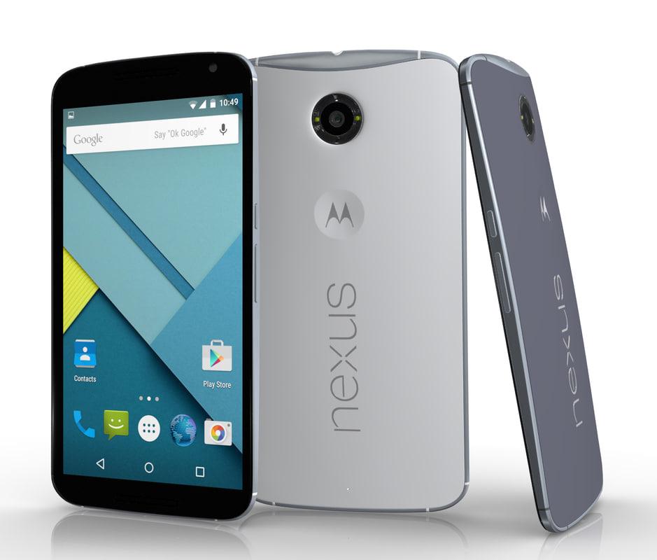 3d google nexus 6 model