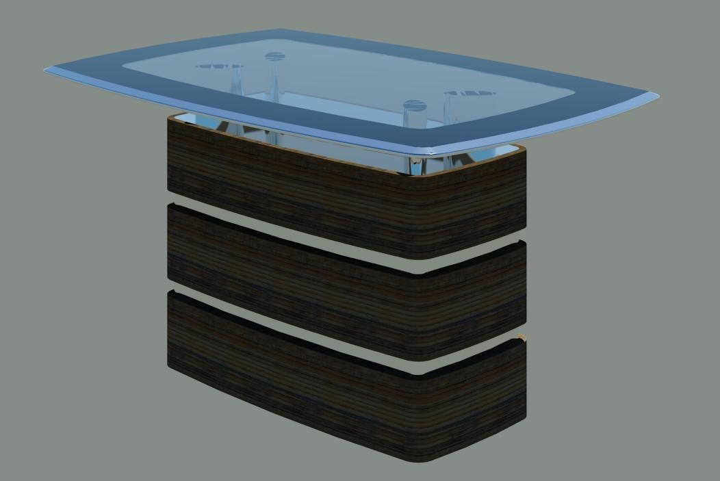 3d model modern table 03