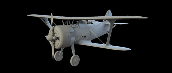 russian plane i-15 3d obj