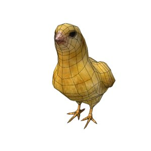 chick hen 3d model