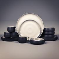 plate set 3d obj