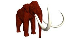 mammoth animal 3d model