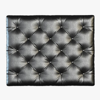 Capitone leather wall panel