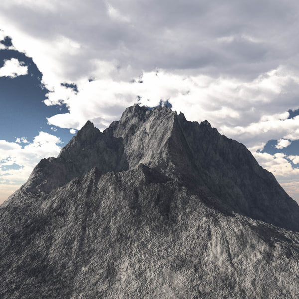 mountain range peak c4d
