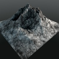 3d mountain range peak model