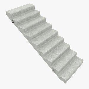 concrete staircase 3d model
