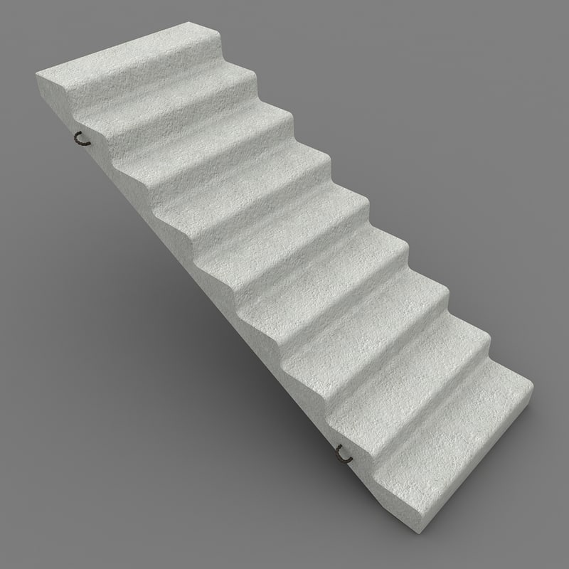 concrete staircase 3d model