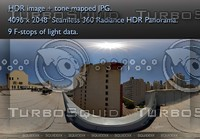 HIGH RISES, A CITY VIEW FROM A ROOFTOP, 360 PANORAMA #243