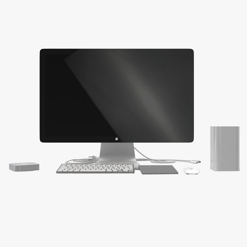 apple computer accessories 2 3d model