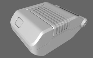sci-fi munition case box 3d obj