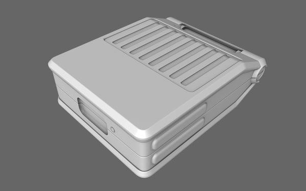 3d sci-fi doctor aid suitcase