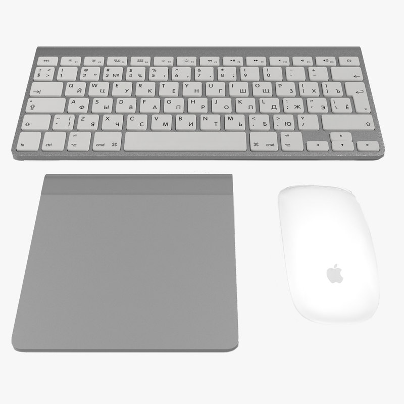 apple accessories modeled keyboard 3ds
