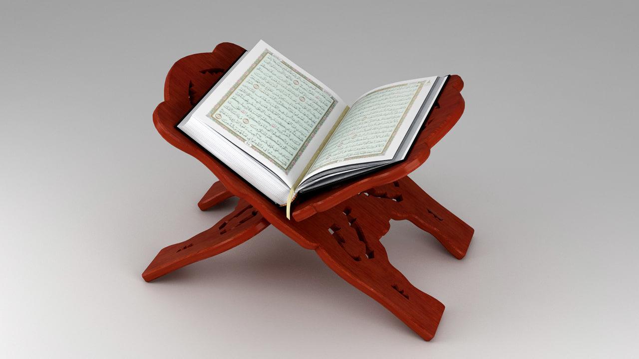 holy quran book 3d max