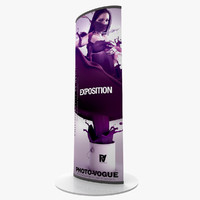 totem sign advertising 3d model