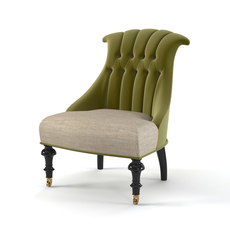 classic tufted modern 3d 3ds
