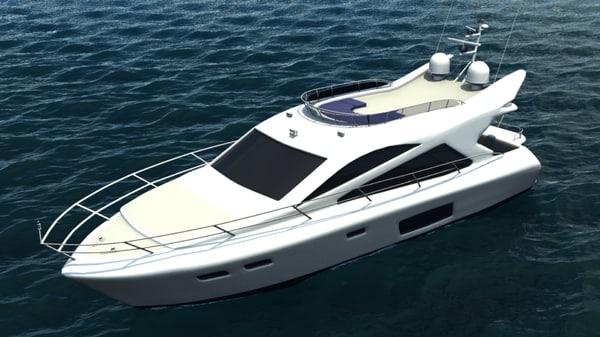 free florida yacht 3d model