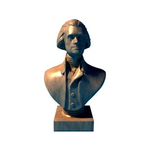 3d thomas jefferson bust