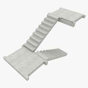 3d concrete staircase 1 model