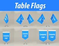 3d model of table flags
