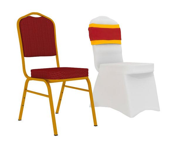 3dsmax hotel banquet chair